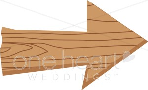 Wooden Arrow Clipart.