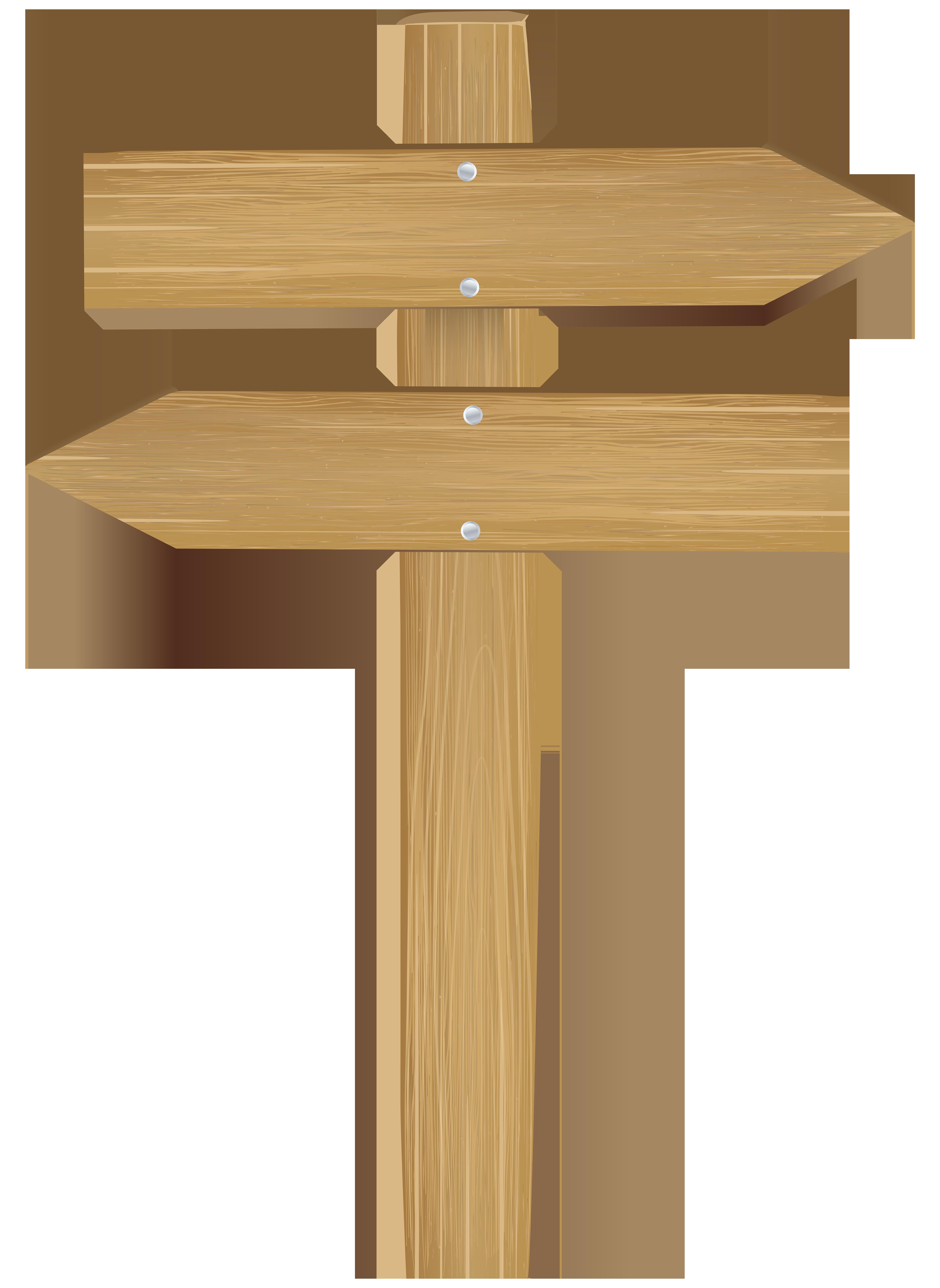 Double Wooden Arrow Sign PNG Clip Art.