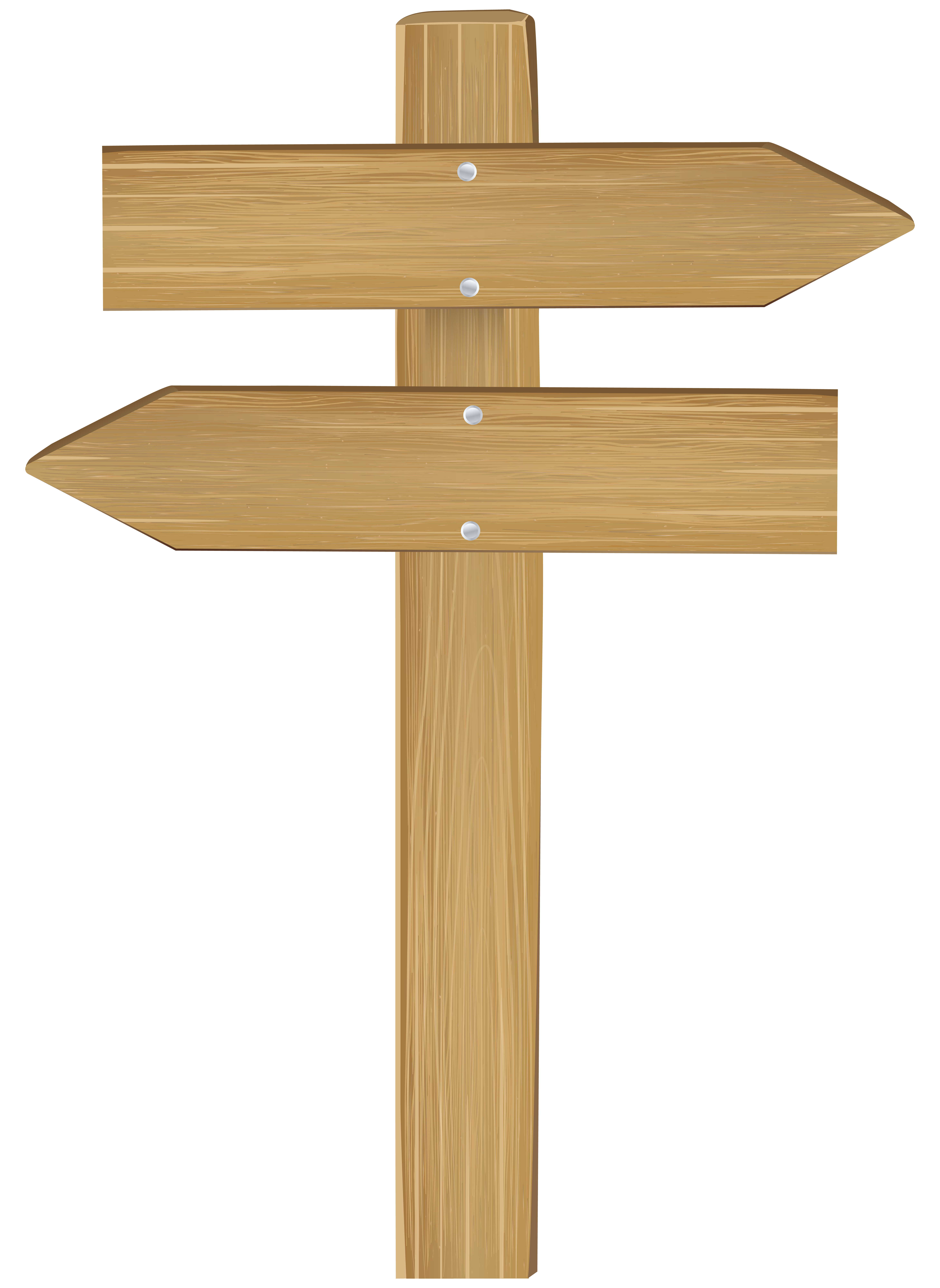 Double Wooden Arrow Sign PNG Clip Art.