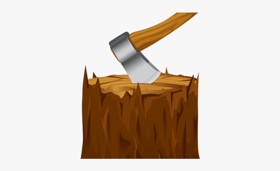 Axe Clipart Wooden Log.