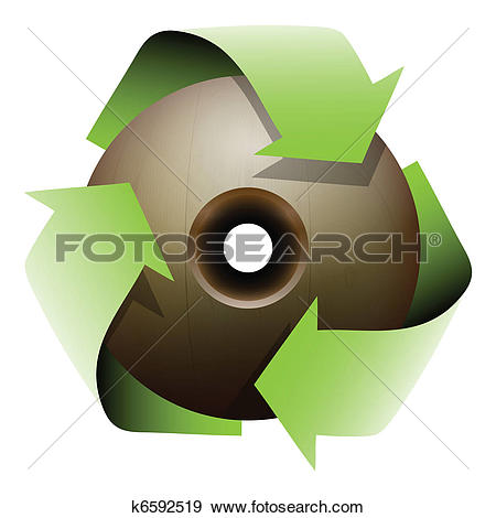 Clip Art of A wooden ball with a hole k6592519.