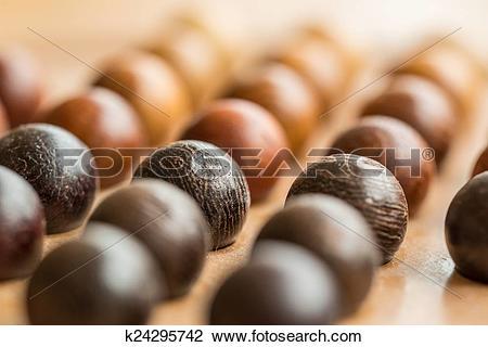 Stock Photo of wooden balls k24295742.