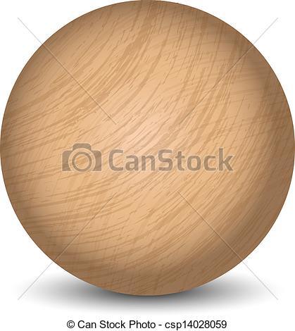 Clipart Vector of Vector wooden ball csp14028059.
