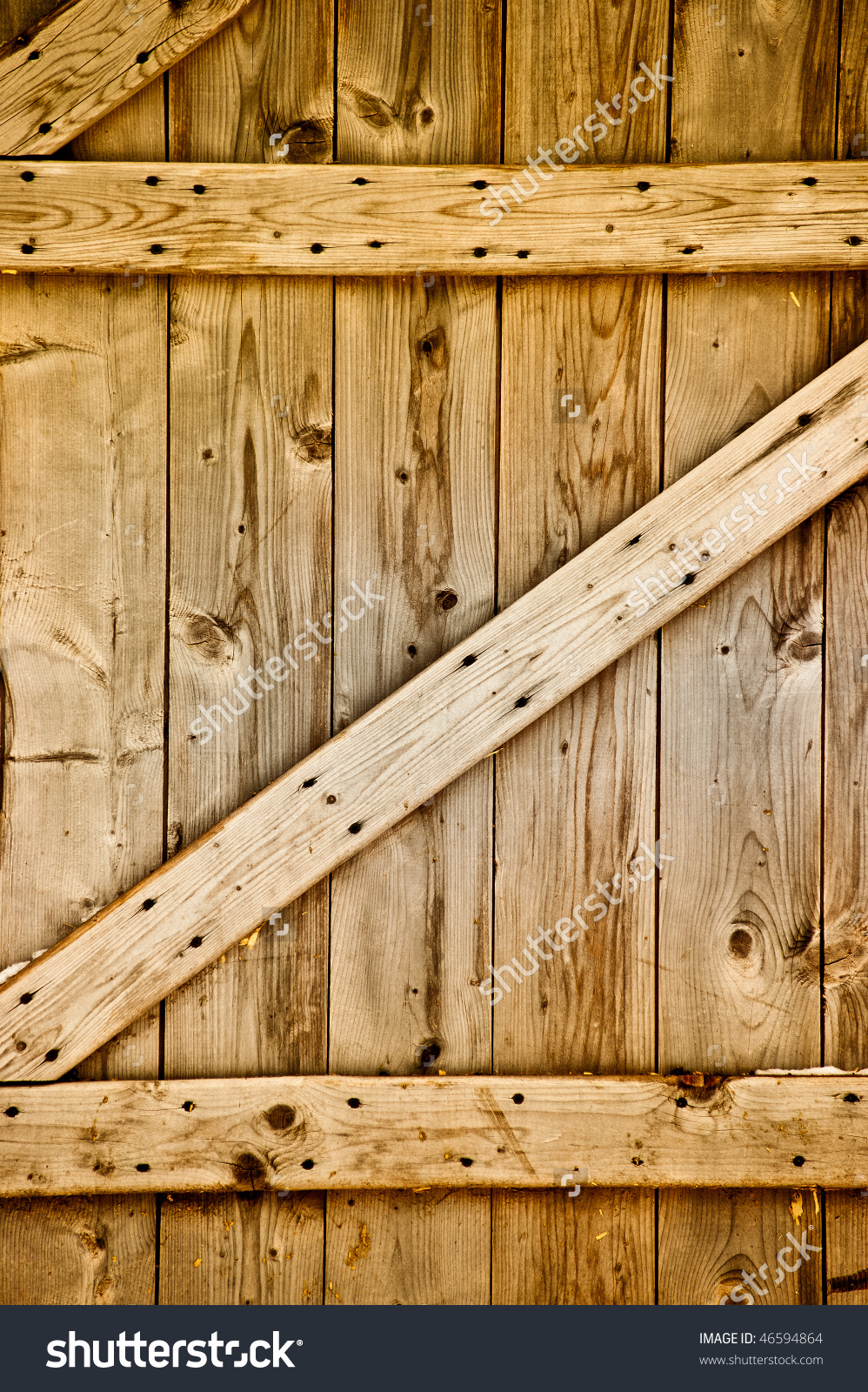 Rustic Wooden Barn Door Stock Photo 46594864.