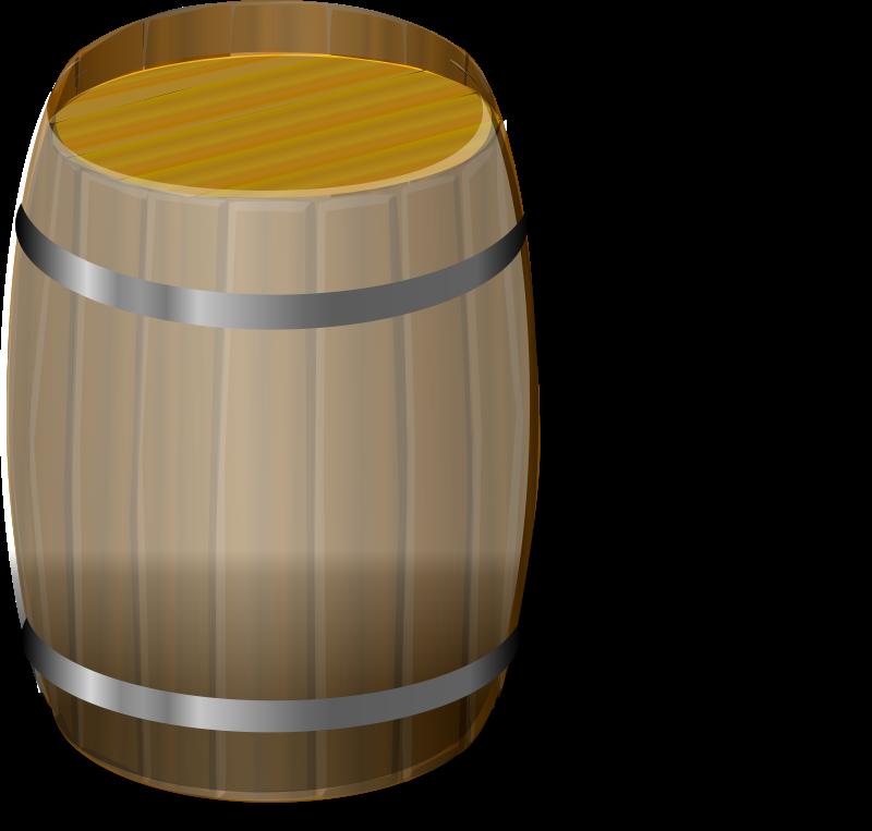Free Clipart: Wooden barrel petri lumm 01.