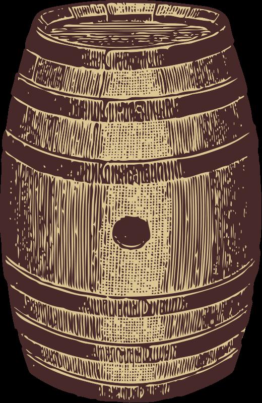 Free Clipart: Wooden barrel.