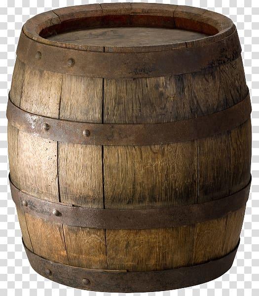 Barrel Oak Wood Wine, wood transparent background PNG.