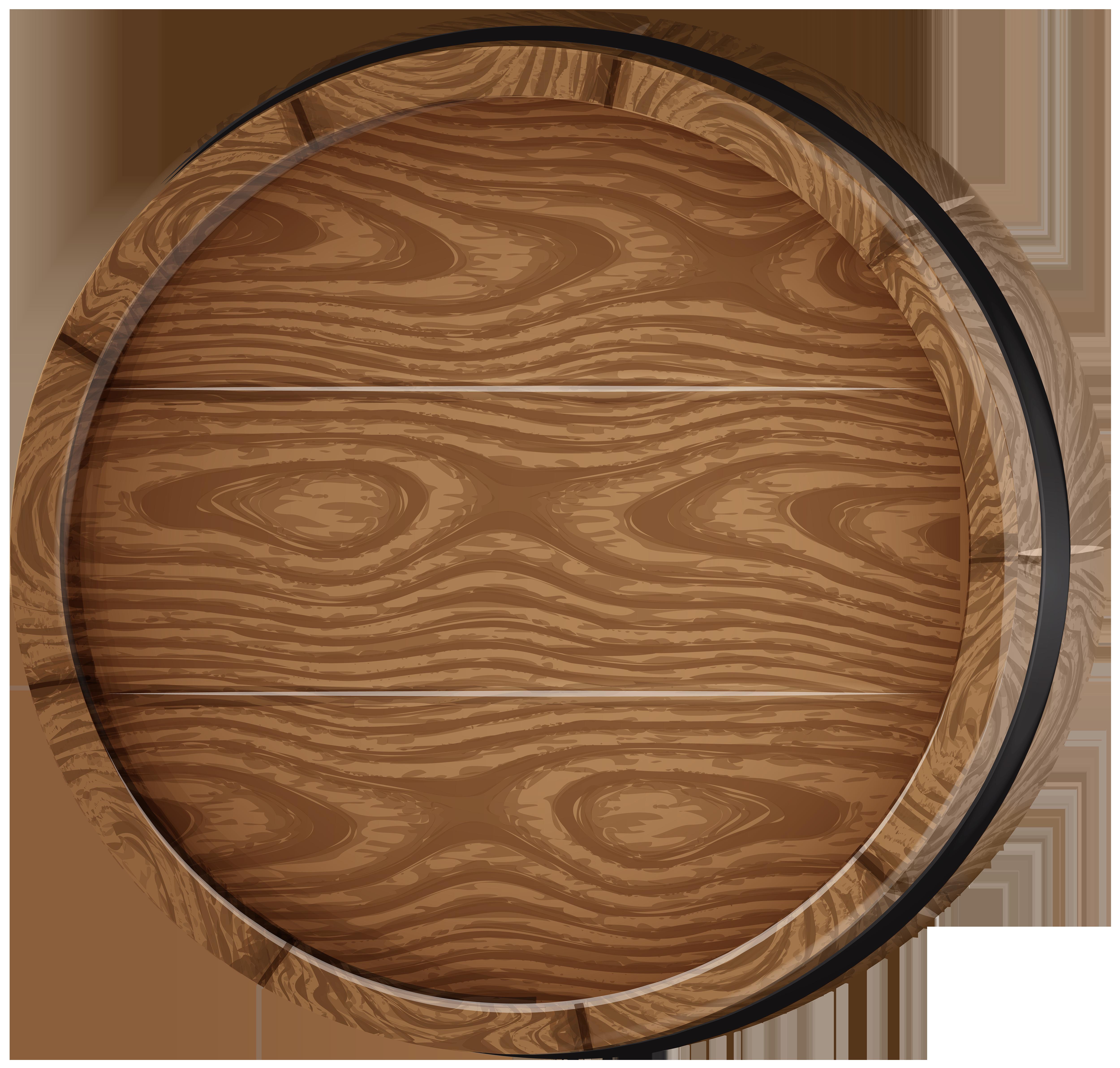 Wooden Barrel PNG Clip Art Image.