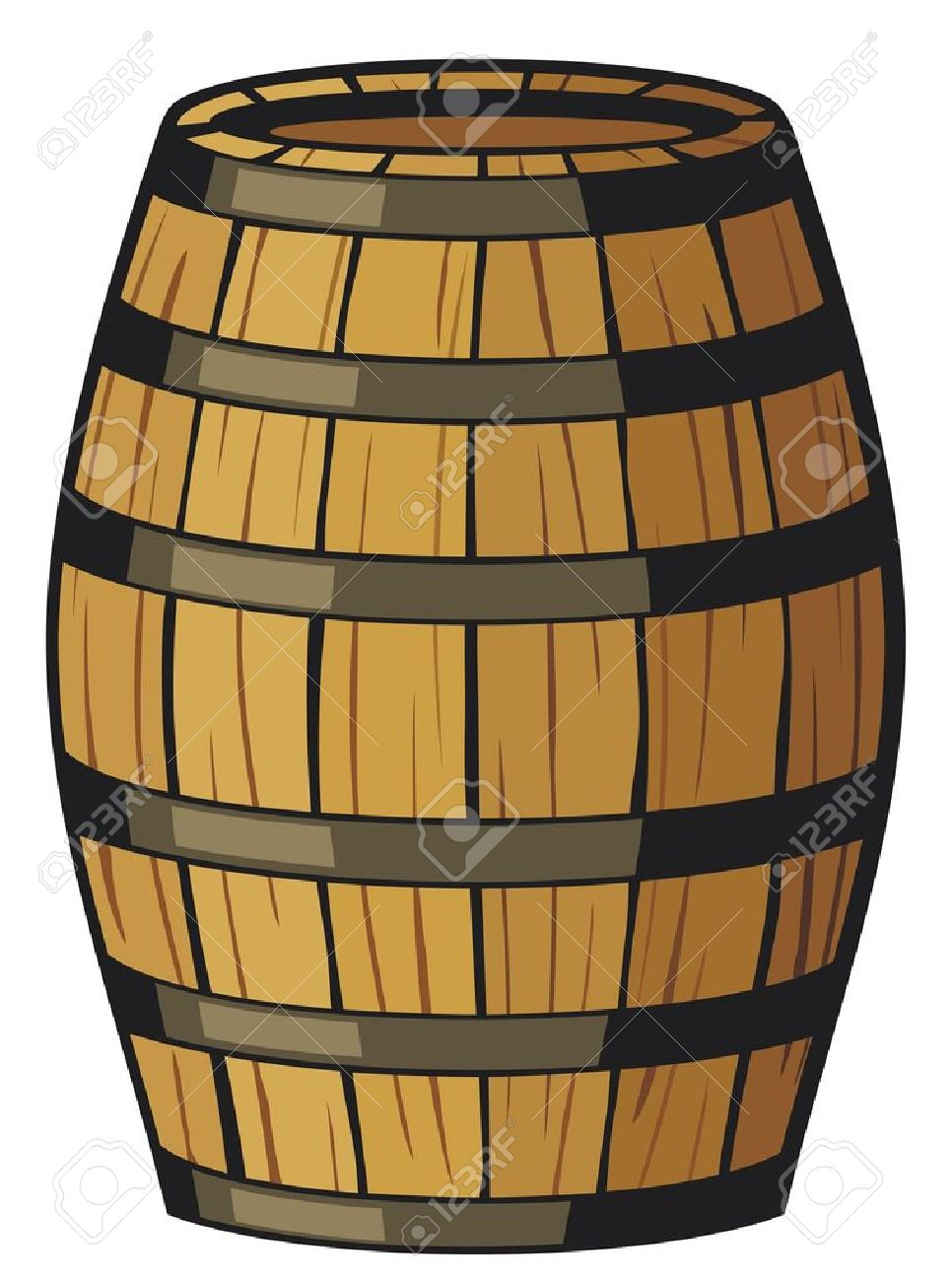 Old Barrel (wooden Barrel) Royalty Free Cliparts, Vectors, And.