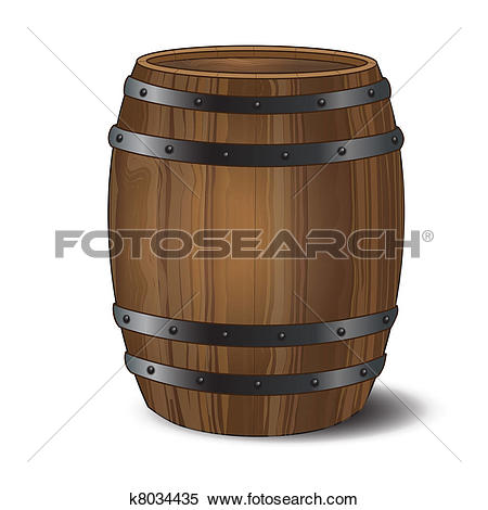 Clipart of wooden barrel with lid k6683780.