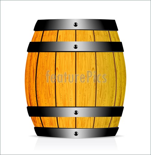 Oak Barrel Clipart.