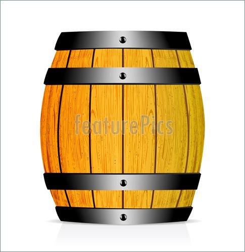 Oak Barrel Clipart.