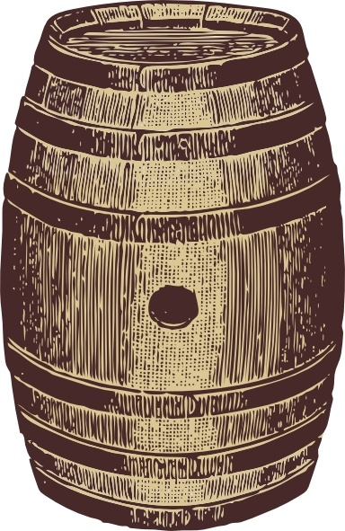 Wooden Barrel clip art Free vector in Open office drawing svg.