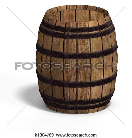 Clip Art of Wooden Barrels k4258956.
