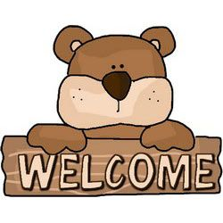 Welcome Bear Sign.