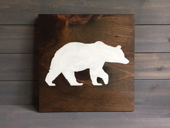 Wooden Bear Silhouette.