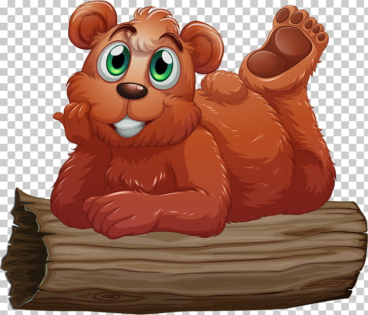 Brown bear , Sleeping on the wooden coffee Bear PNG clipart.