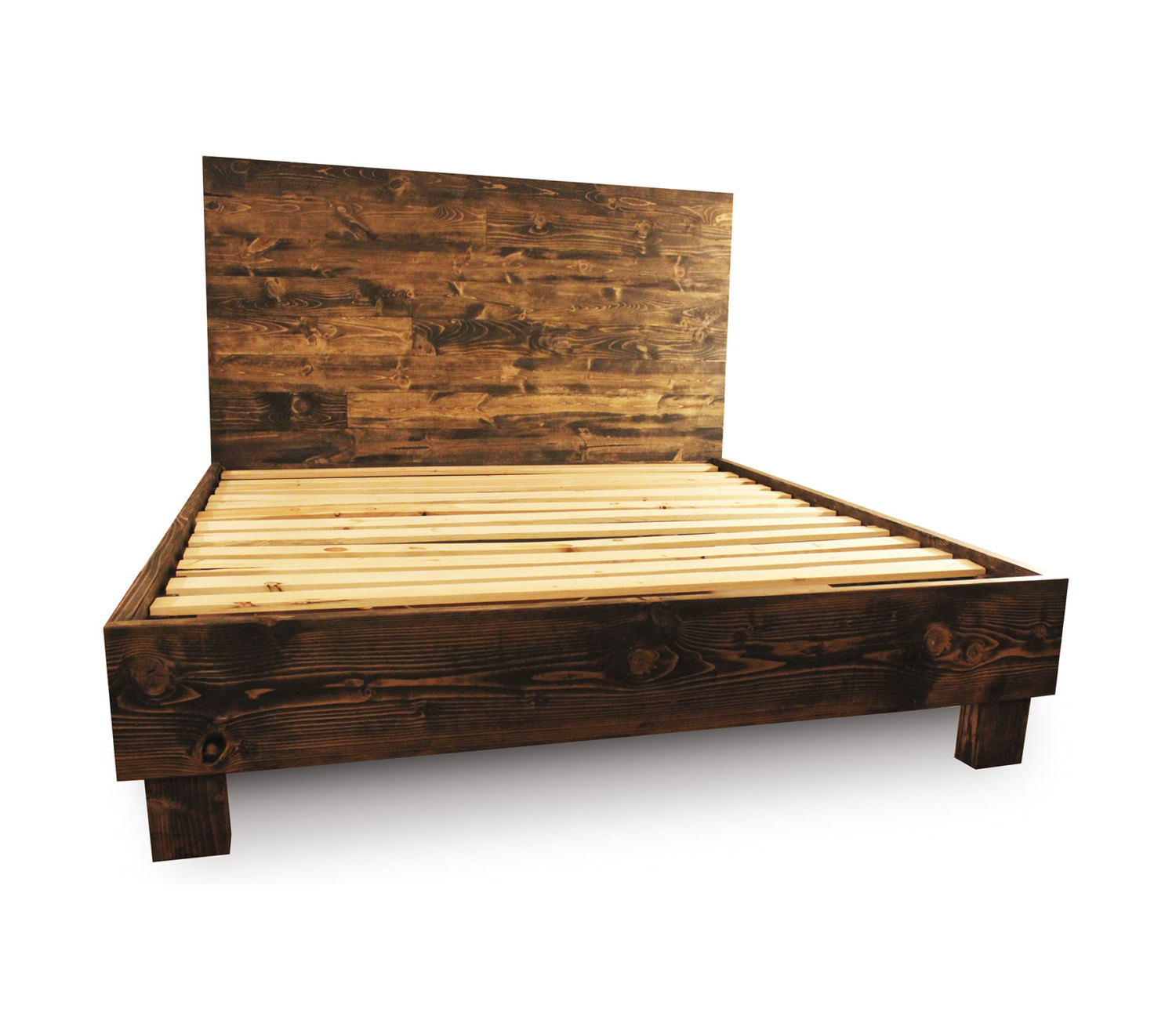 Reclaimed wood bed.