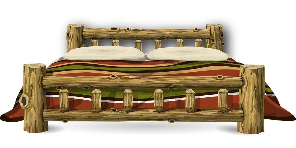 Free Wooden Bed Clip Art.
