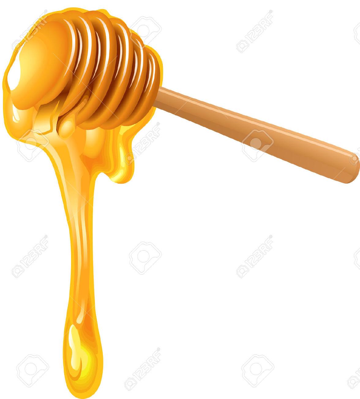 Honey dipper clipart.