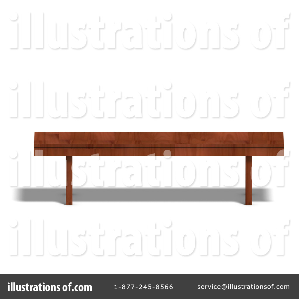 Wooden bench clipart.