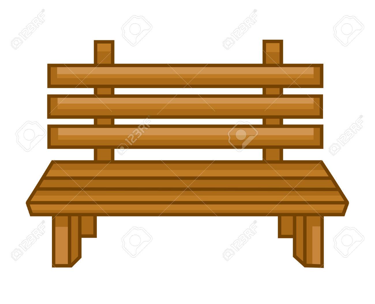 Garden bench clipart.