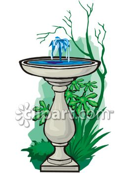 1028 Fountain free clipart.