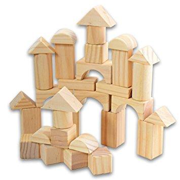 Wooden Building Blocks Clipart.