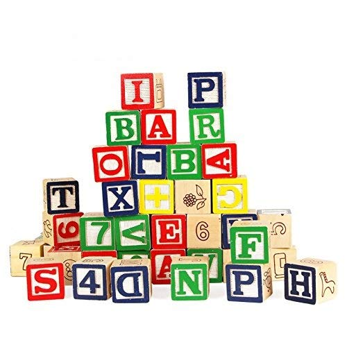 Buy Shoro ABC 123 Wooden Blocks Letters Numbers.