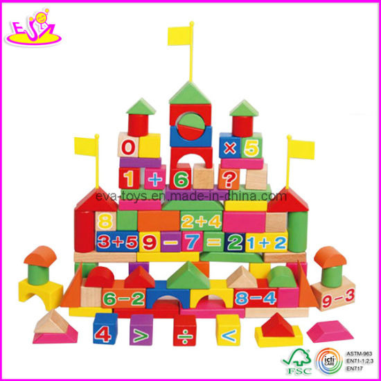 92 PCS Wooden Blocks with Numbers (W13B006).