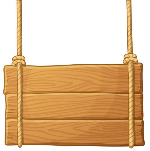 Wooden Board Hanging Clipart.