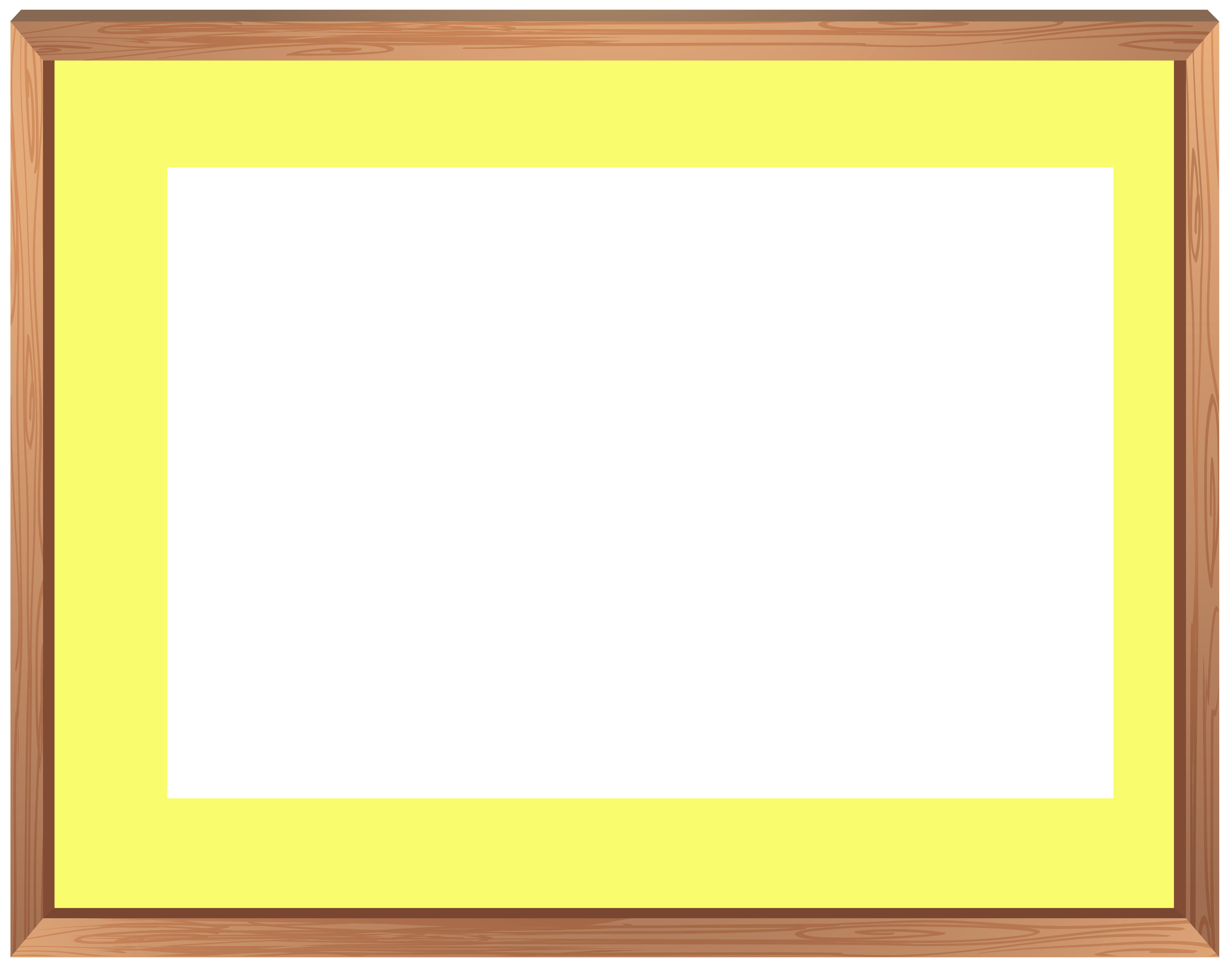Wooden Border Frame PNG Clipart.