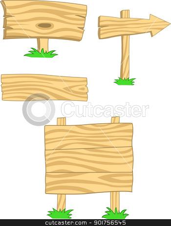 Wooden Signboard Clipart.