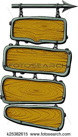 Clipart of wooden boards color k25382615.
