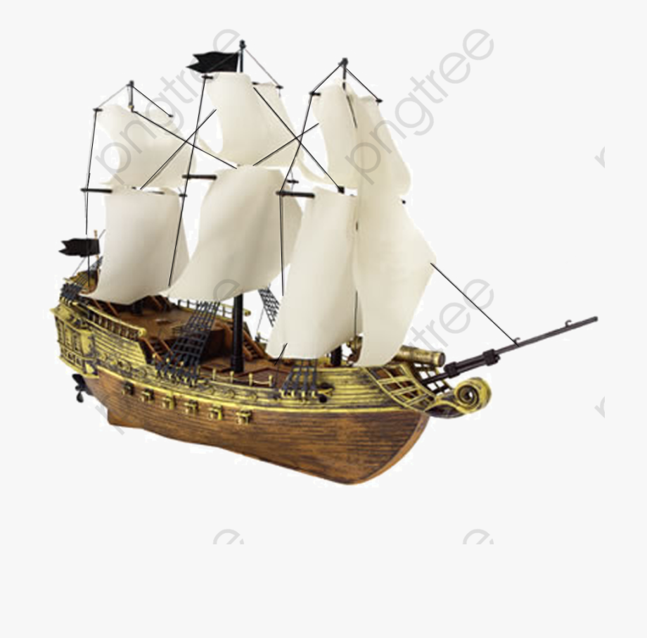Pirate Ship, Pirate Clipart, Ship Clipart, Wooden Boat.