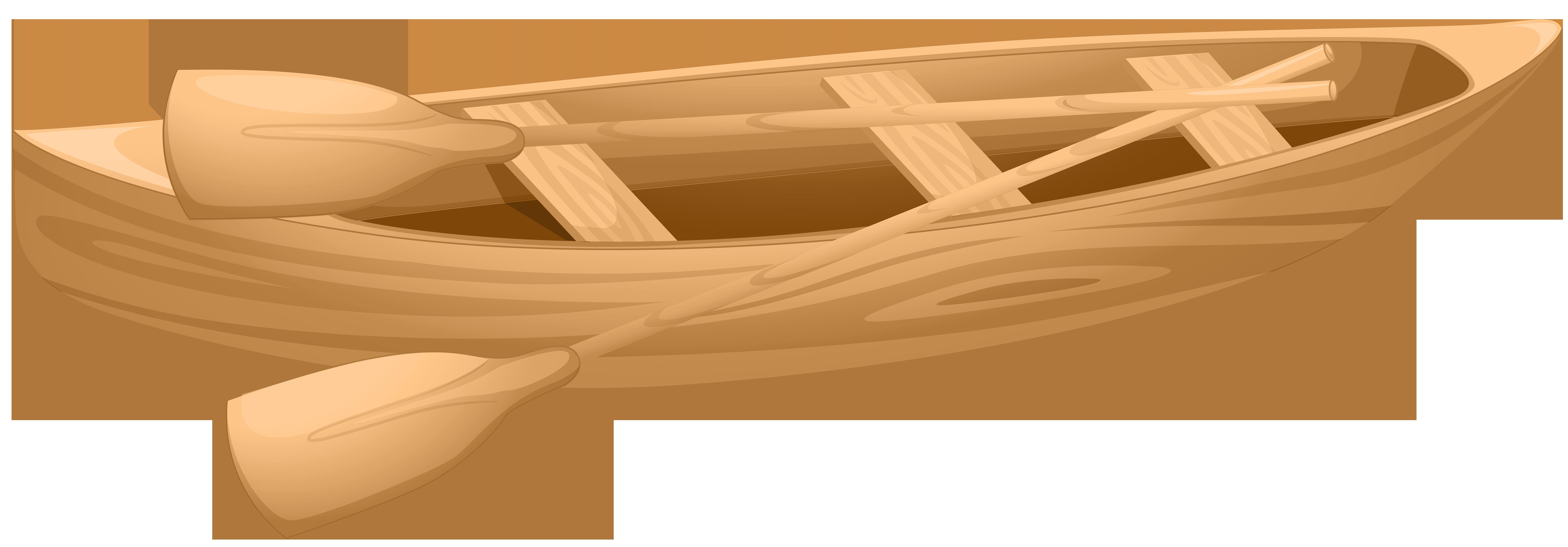 Wooden Boat Clip Art PNG Transparent Image.