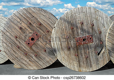 Stock Photography of Spools for cables.