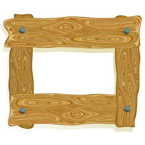 3 wood frame border clip art Free Vector / 4Vector.