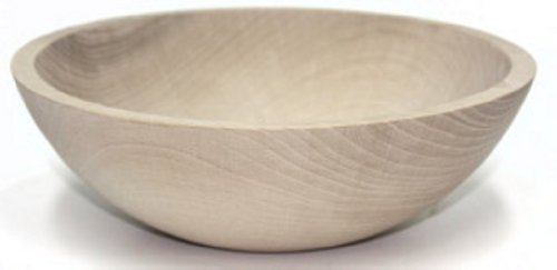 10 Inch Unfinished Solid Beech Wood Bowl.
