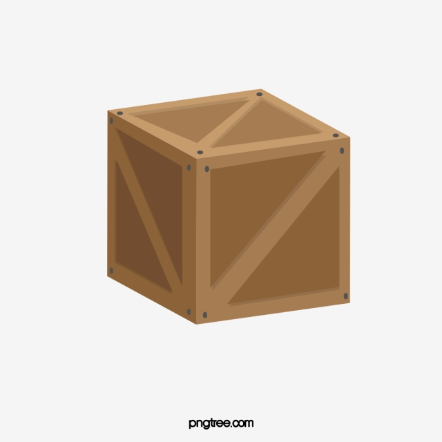 Wooden Box PNG Images.