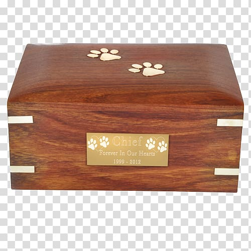 Wooden box Urn Wood stain, new product poster transparent.