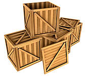 Stock Illustrations of wooden boxes k11504470.