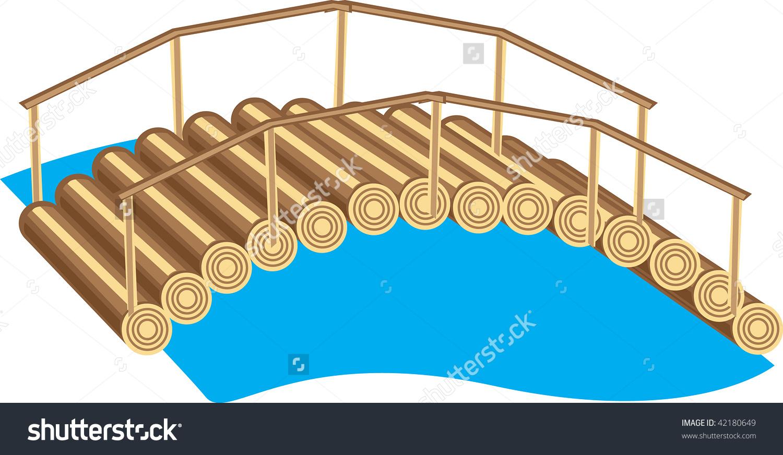 Wooden Bridge Clip Art.