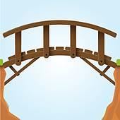 Wooden bridge Clipart Royalty Free. 811 wooden bridge clip art.