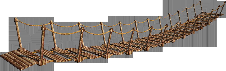 Rope bridge clipart.