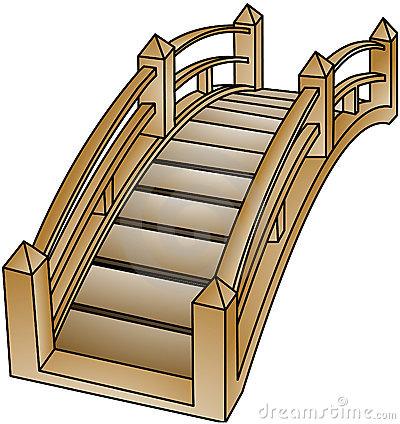Clipart wooden bridge.