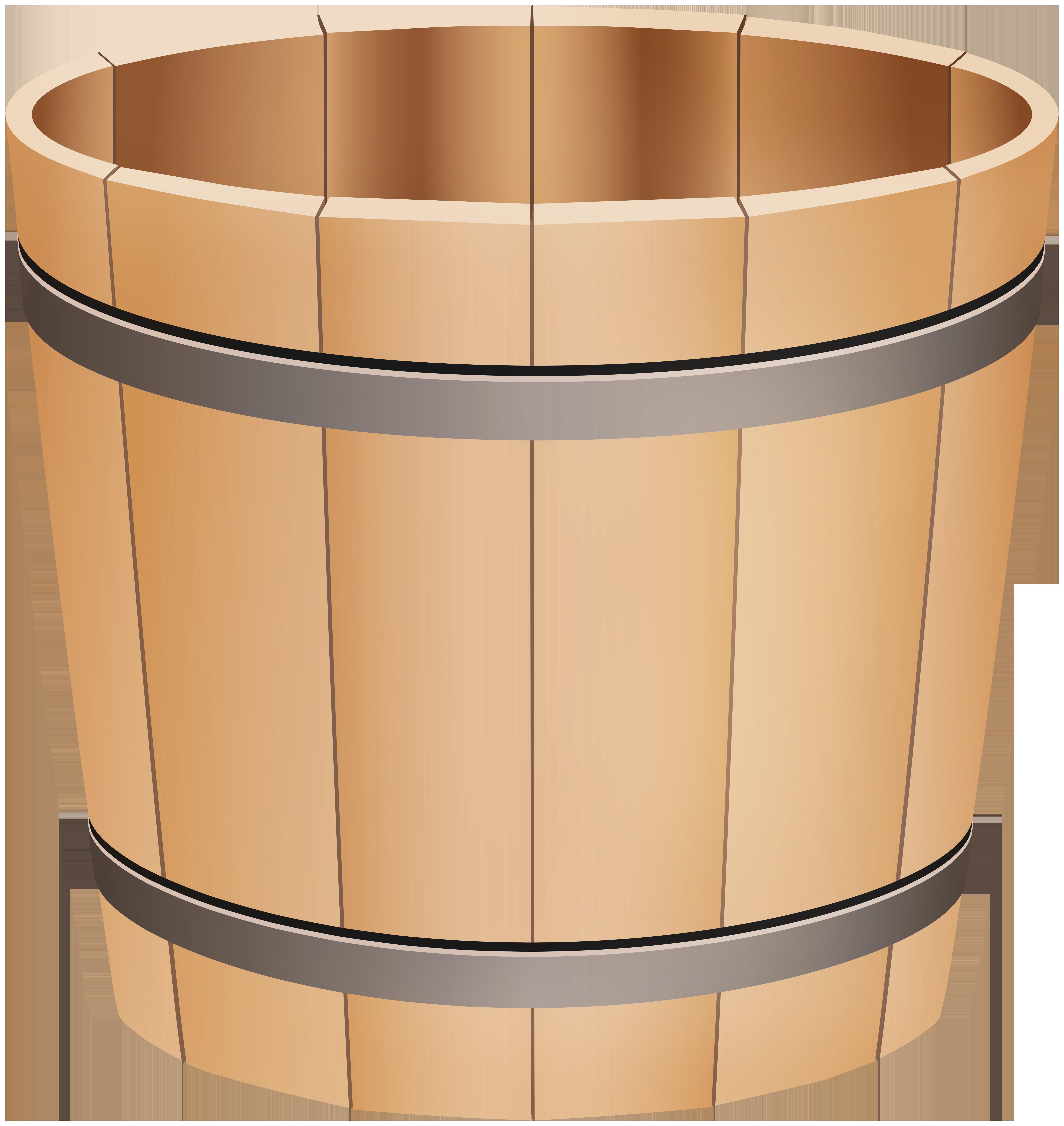 Wooden Bucket PNG Clip Art.