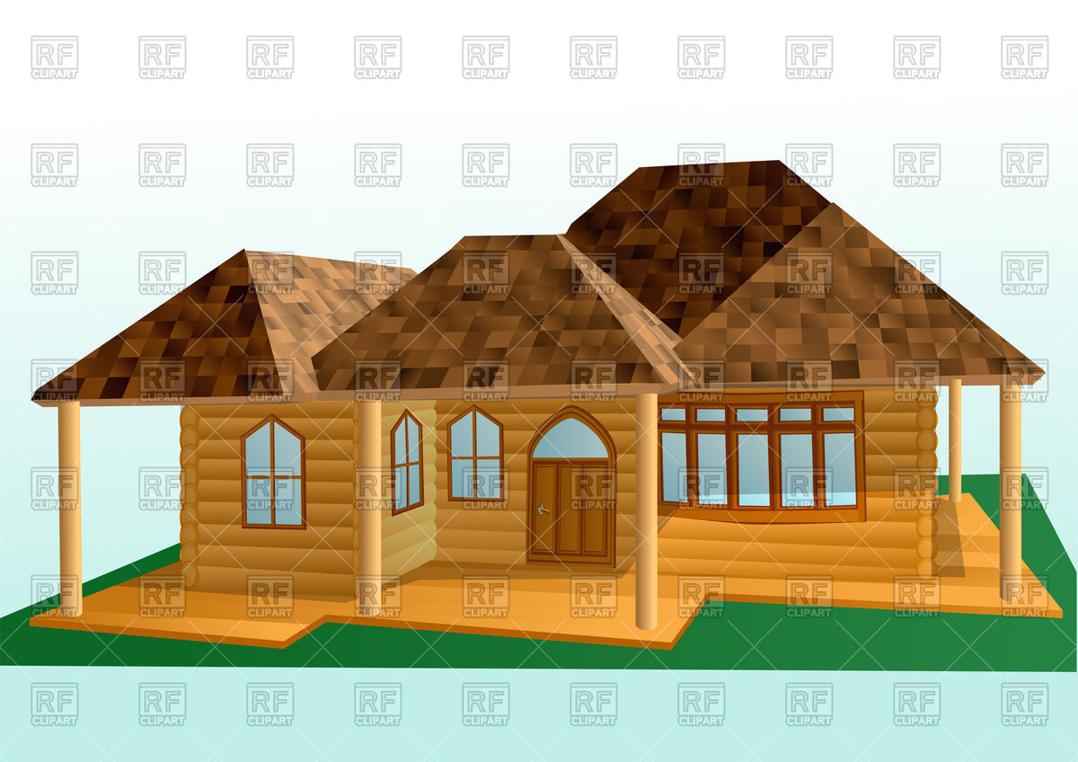 Wooden house Vector Image #84605.