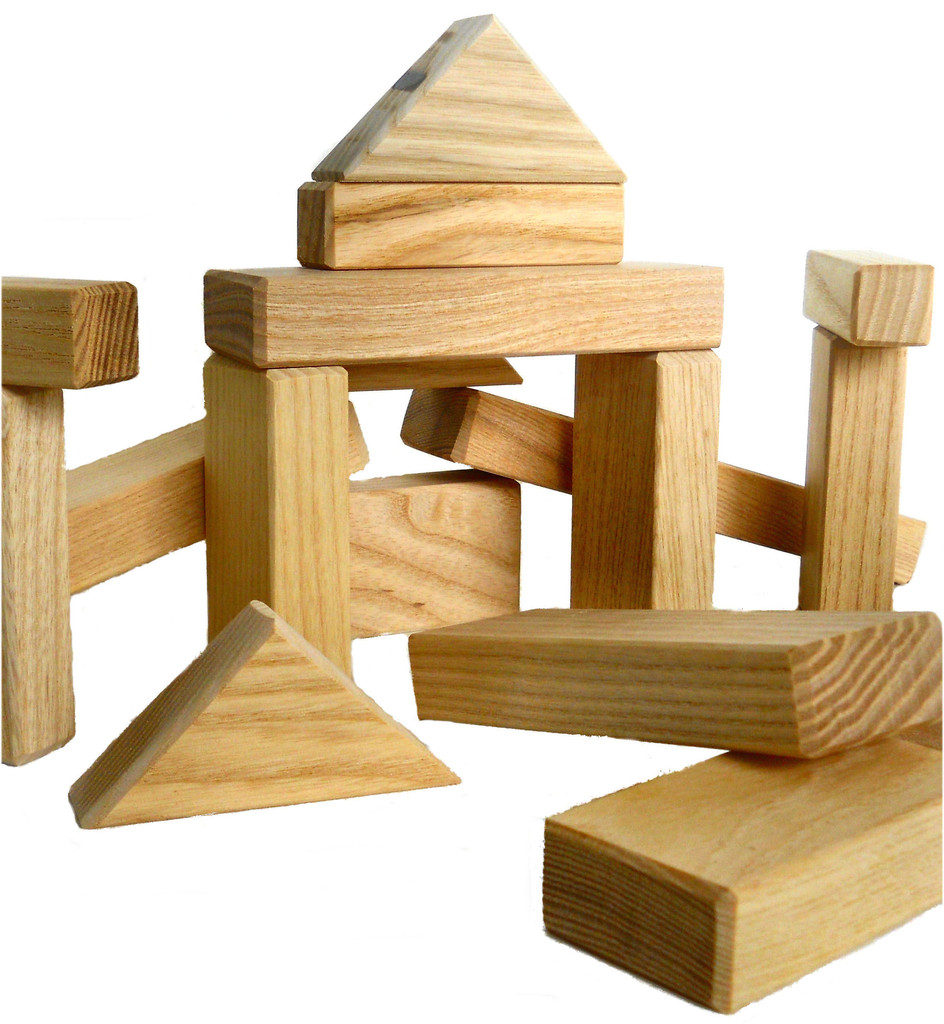Wooden building blocks clipart.