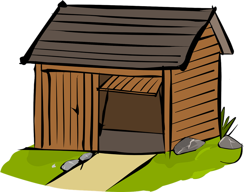 Wooden house clipart.